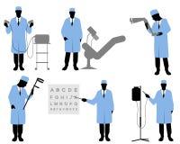 Six doctors set Stock Image