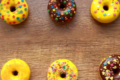 Six donuts composition Stock Image