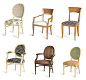 Six Drape Chairs Stock Images
