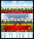 Six drapeaux 14 de Noël Images libres de droits