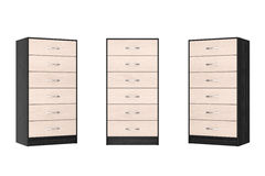 Six Drawers Modern Wooden Dresser. 3d Rendering Stock Photography