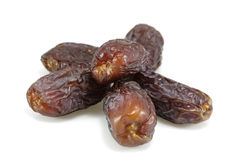 Six dried dates Royalty Free Stock Photos
