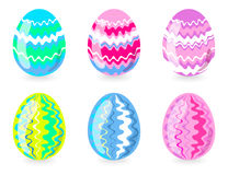 Six easter eggs Royalty Free Stock Photos