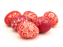 Six Easter Eggs Stock Image