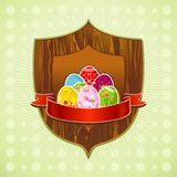 Six easter eggs, vector Royalty Free Stock Photos