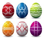 Six easter eggs, vector Royalty Free Stock Photography