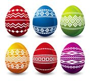 Six easter eggs, vector royalty free stock photo
