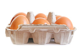 Six eggs. Stock Photo