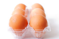 Six eggs. Royalty Free Stock Photography