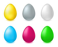 Six eggs Stock Images