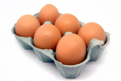Six eggs Stock Photos