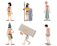 Six egyptians set. Vector illustration of a six egyptians set Royalty Free Stock Photos