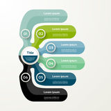 Six elements banner. 6 steps design, chart, infographic, step by. Step number option, layout Royalty Free Stock Images