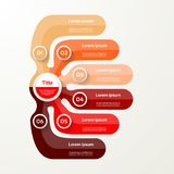 Six elements banner. 6 steps design, chart, infographic Stock Photography