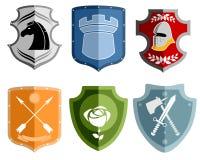 Six emblems set Royalty Free Stock Photo