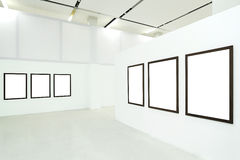 Six empty frames Stock Photo