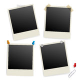 Six empty picture frames Royalty Free Stock Photography