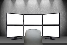 Six empty screens Stock Images