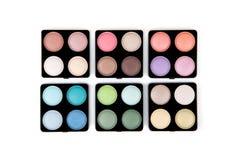 Six eyeshadow palettes Stock Images
