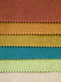 Six Fabric color Sample Stock Photography