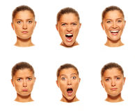 Six faces Stock Images