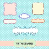 Fancy Frame Borders set Royalty Free Stock Images