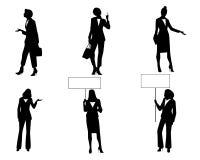 Six femmes d'affaires dans l'action Photo stock