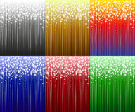 Six festive background. Royalty Free Stock Photos