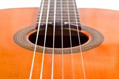 Six ficelles en nylon de guitare acoustique classique Photographie stock libre de droits