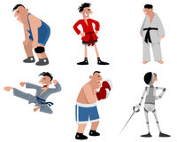 Six fighters set. Vector illustration of a six fighters set Stock Photography