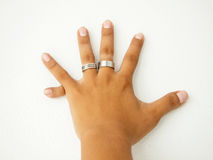 Six fingers Royalty Free Stock Image