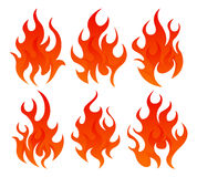Six fire icon. Six simple fire icon on white background Royalty Free Stock Images