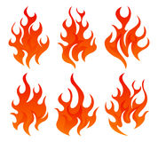 Six fire icon Stock Image