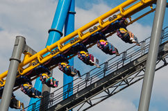 Six Flags  Adventure amusement park in Mexico City. Mexico City, Mexico - December 1, 2016 : Six Flags  Adventure amusement park in Mexico City Royalty Free Stock Photography