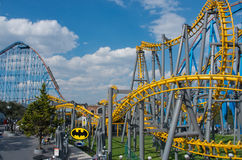 Six Flags  Adventure amusement park in Mexico City. Mexico City, Mexico - December 1, 2016 : Six Flags  Adventure amusement park in Mexico City Royalty Free Stock Photos