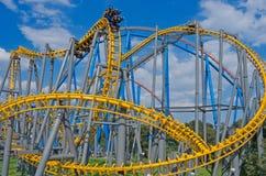 Six Flags  Adventure amusement park in Mexico City. Mexico City, Mexico - December 1, 2016 : Six Flags  Adventure amusement park in Mexico City Royalty Free Stock Photo
