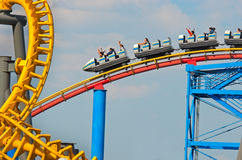 Six Flags  Adventure amusement park in Mexico City. Royalty Free Stock Images