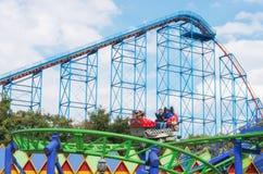 Six Flags  Adventure amusement park in Mexico City. Mexico City, Mexico - December 1, 2016 : Six Flags  Adventure amusement park in Mexico City Stock Images