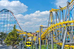 Six Flags  Adventure amusement park in Mexico City. Mexico City, Mexico - December 1, 2016 : Six Flags  Adventure amusement park in Mexico City Royalty Free Stock Image