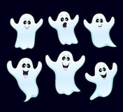 Six Floating Halloween ghosts Stock Images