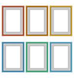 Six frames isolated on white Stock Images