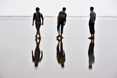 Six friends abstract photo