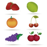 Six fruits Stock Images