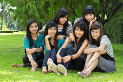 Six girl best friend Royalty Free Stock Photos