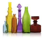 Six Glass Bottles Stock Images