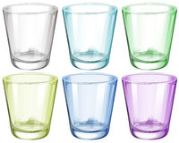 Six Glasses Royalty Free Stock Photography