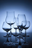 Six glasses Royalty Free Stock Photo