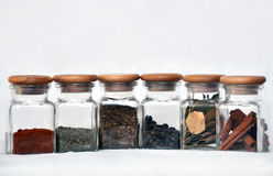 Six glasses of spice.  Stock Photography