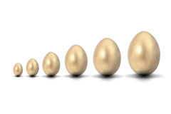 Six Golden Eggs Royalty Free Stock Photos