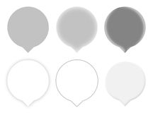 Six Gray Map Pointers Royalty Free Stock Images